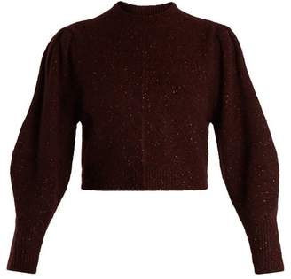 Isabel Marant Elaya Crew Neck Knit Sweater - Womens - Burgundy
