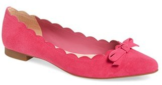 Women's Kate Spade New York 'Eleni' Pointy Toe Ballet Flat $228 thestylecure.com
