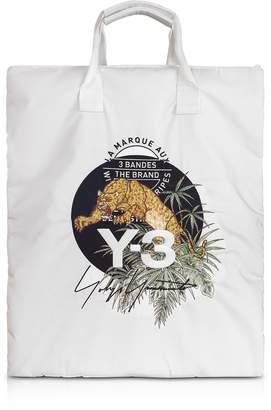 Y-3 Core White Signature Print Tote Bag