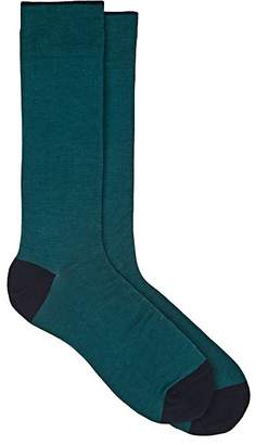 Barneys New York MEN'S COTTON-BLEND MID-CALF SOCKS