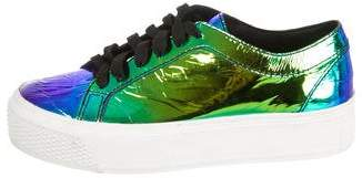 Loeffler Randall Iridescent Leather Sneakers