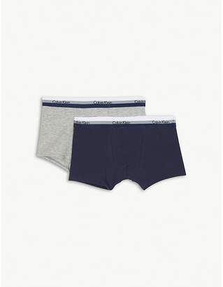 Calvin Klein Logo cotton-blend boxers pack of two 4-16 years