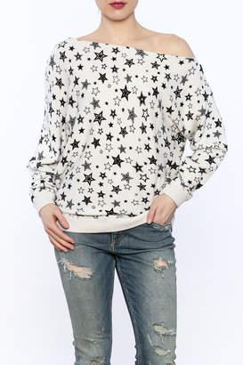 Minnie Rose Off-Shoulder Sweatshirt $154 thestylecure.com