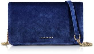Lancaster Paris Velvet Flap Clutch w/Strap