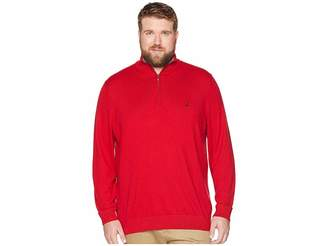 Nautica Big Tall 1/4 Zip Mock Neck