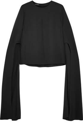 Narciso Rodriguez Silk Crepe De Chine Blouse - Black