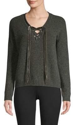 Rails Amelia Lace-Up Sweater