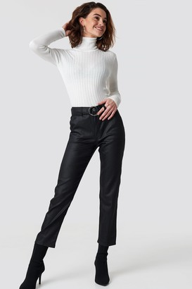 Trendyol Ring Binding Detailed High Waist Jeans Black