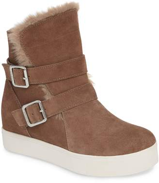 J/Slides Wells Faux Fur Trim High Top Sneaker