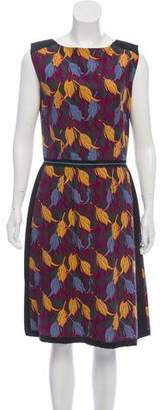 Sophie Theallet Silk-Blend Floral Sheath Dress