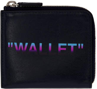 Off-White Off White Blue Quote Zip Wallet