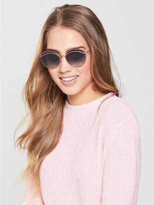 Marc Jacobs Round Twist Detail Sunglasses