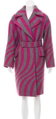 Dries Van Noten Striped Wool Coat