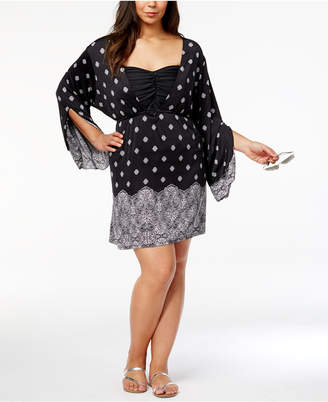 Dotti Plus Size Gypsy Dancer Printed Cover-Up Tunic Women's Swimsuit