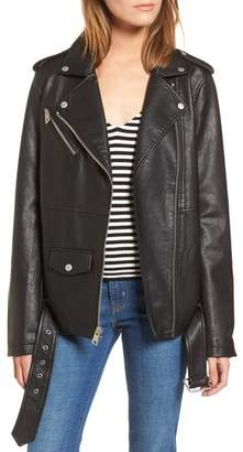 Levi's Oversize Faux Leather Moto Jacket