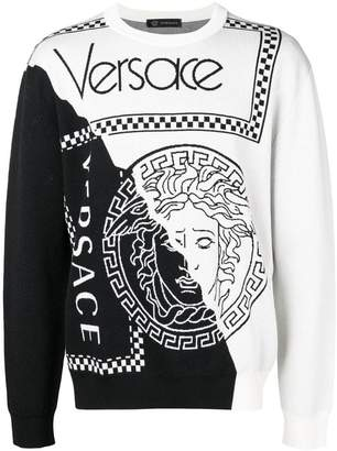 Versace two tone sweater