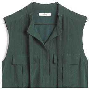 Madewell Silk Aviator Shiftdress