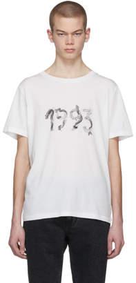 Saint Laurent White 1993 T-Shirt