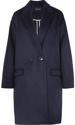 Isabel Marant Filipo Oversized Wool-blend Coat - Midnight blue