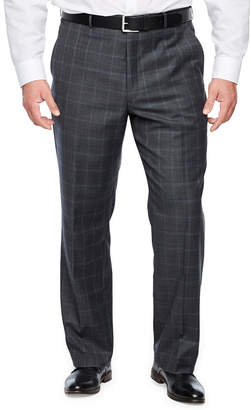 STAFFORD Stafford Checked Classic Fit Stretch Suit Pants - Big and Tall