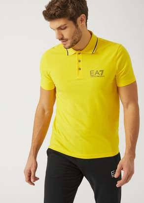 Emporio Armani Ea7 Polo Shirt In Stretch Cotton