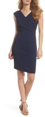 Eliza J Pleated Sheath Dress