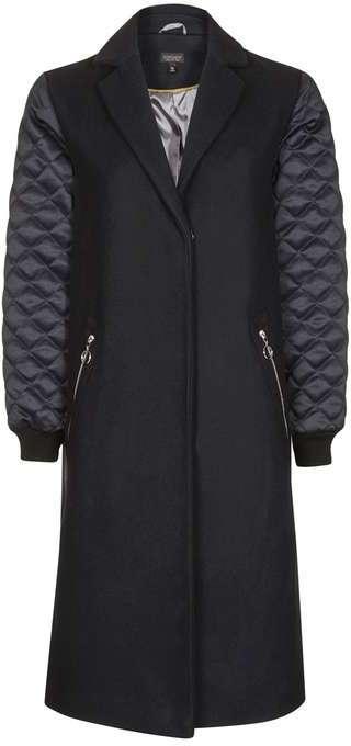 TopshopTopshop Quilted sleeve coat