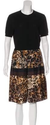Salvatore Ferragamo Wool & Silk Knee-Length Dress
