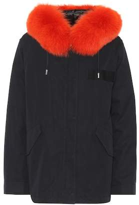 Yves Salomon Army Fur-trimmed parka