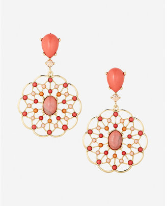 Express Filigree Drop Earrings $29.90 thestylecure.com