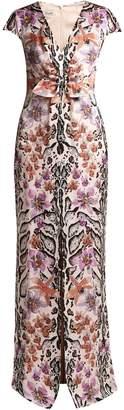 Temperley London Safari-print silk dress