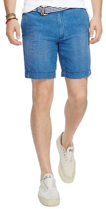 Polo Ralph Lauren Linen Chambray Straight Fit Shorts $98.50 thestylecure.com