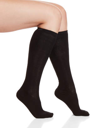 Hue Two-Pack Cable Knit Knee Socks