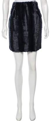 Adrienne Landau Faux Fur Mini Skirt w/ Tags