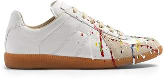 Maison Margiela Replica low-top paint-effect leather trainers