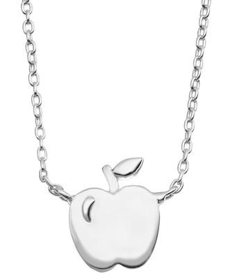 apple pendant necklace shopstyle Apple 5 S sterling silver apple necklace