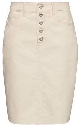Banana Republic Button-Fly Denim Skirt