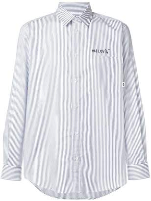 MSGM striped long-sleeve shirt