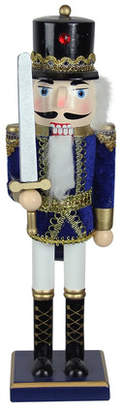 The Holiday Aisle Traditional Decorative Wooden Christmas Nutcracker Soldier with Sword