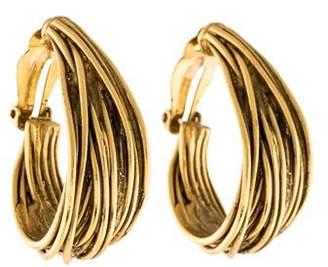 Saint Laurent Textured Hoop Earrings