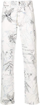 Alexander McQueen floral trousers
