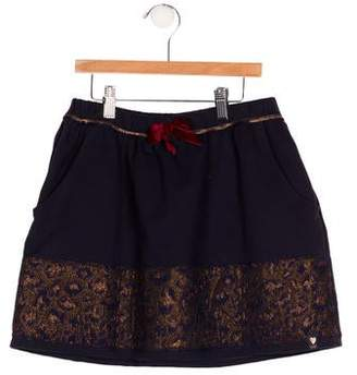 Ikks Girls' Jacquard Mini Skirt w/ Tags
