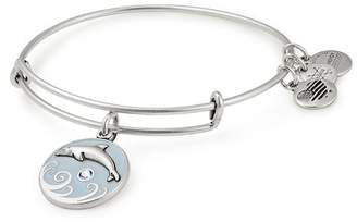 Alex and Ani Color Infusion Dolphin Charm Wire Adjustable Bracelet