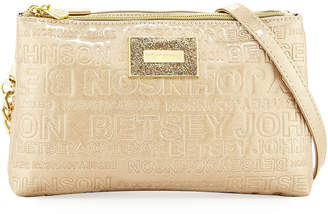 Betsey Johnson Logo-Embossed Tassel Crossbody Bag