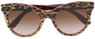 Dolce & Gabbana Eyewear leopard print cat-eye sunglasses