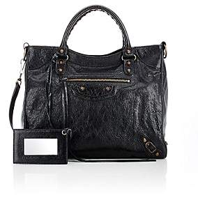 Balenciaga Women's Arena Leather Classic Velo Bag-Black