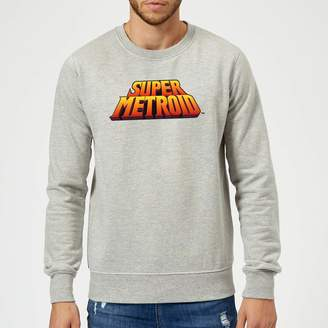 Nintendo Super Metroid Retro Logo Colour Sweatshirt