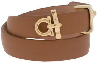 Salvatore Ferragamo Gancio Leather Wrap Bracelet
