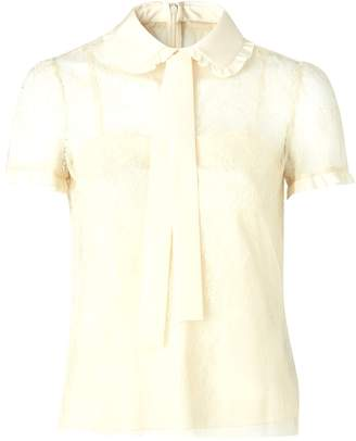 RED Valentino Short sleeved silk shirt