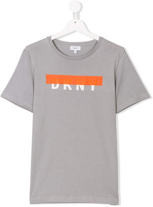 DKNY (ディー ケー エヌワイ) - Dkny Kids TEEN graphic logo T-shirt